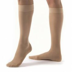 The Bsn Medical UltraSheer Knee-High Extra Firm Compression Stockings feature a high stretch ribbed panty and wide waist band and a cotton panty liner. Knee High Stockings, Diabetic Socks, Compression Stockings, 30th, Pairs, Female