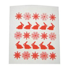 Items similar to Kitchen cloth, dishcloth winter theme bunnies, snowflakes on Etsy Winter Theme, Snowflakes, Bunny, Dishcloth, Quilts, Blanket, Rugs, Christmas, Etsy