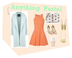 """""""Anything Pastel"""" by nurrahmayarani on Polyvore featuring Elizabeth and James, Nly Shoes, MaxMara, Yves Saint Laurent, Christian Dior, women's clothing, women's fashion, women, female and woman"""