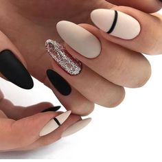 Long Nails Art Design Ideas in Fall & Winter Nail Art Designs Images, Nail Art Design Gallery, Gold Nail Designs, Elegant Nail Designs, Best Nail Art Designs, Beautiful Nail Designs, Cute Nails, Pretty Nails, My Nails