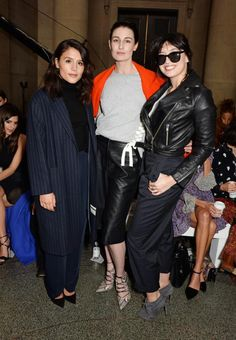 (L to R) Jessie Ware, Erin O'Connor and Daisy Lowe at Topshop Unique AW15