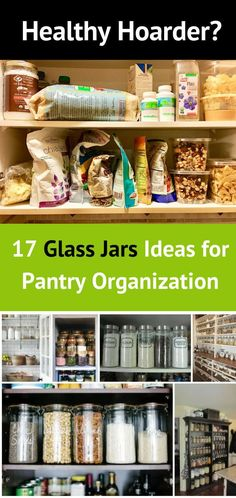 An idea hub of 17 Glass Jar Ideas all in one place! Collection of Beautiful Glass Jar Ideas to organize all you Healthy Food! #glassjarideas #healthfood #abeanstalklife