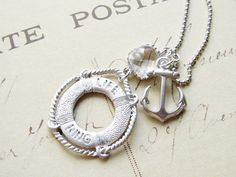 Summer Cruise Nautical Necklace with an Anchor by smallbluethings, $28.00 #UmbaLoves #Handmade
