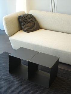 table basse réalisée avec 2 modules Quad moonDust