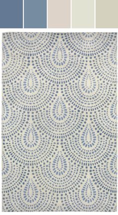 WILLIAMSBURG Bowden Scallop Rug in Blue Bell Designed By Capel Rugs (via Stylyze) @wmbgbrand