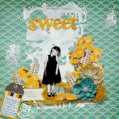 Wishes & Dreams layout by Brit Sviggum for Prima
