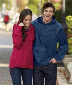 Keep an emergency jacket in your car for those rainy days with our stylish UltraClub 8925-Adult 1/4-Zip Hooded Pullover Pack-Away Jacket! Available in various colors and priced as low as $16, these jackets can be stored just about anywhere. Shop these jackets only at www.nyfifth.com #ultraclub #packawayjackets