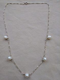 Cadena en plata con perlas cultivadas