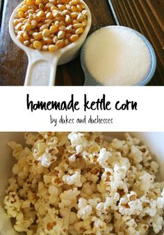 Don& wait all year for the fair . use this simple recipe to make your own sweet and salty kettle corn at home, right on your stovetop! Popcorn Recipes, Snack Recipes, Cooking Recipes, Homemade Popcorn, Popcorn Snacks, Appetizer Recipes, Easy Recipes, Easy Meals, Salty Snacks