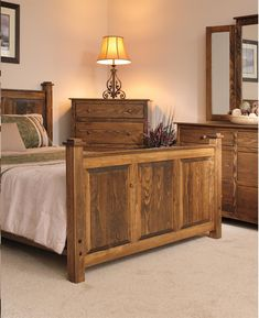 American Shaker Pine Wood Bedroom Set