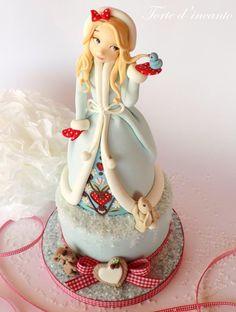 Winter Girl   Snow - Cake by Torte d'incanto