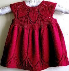 Kız bebekler için örgü elbiseler