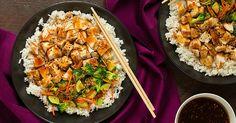Kuřecí prsa s teriyaki omáčkou, rýží a zeleninou
