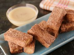 Churros French Toast with White Chocolate-Orange Ganache recipe from Bobby Flay via Food Network