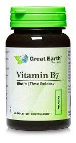 Bild på Great Earth Vitamin B7, 60 tabletter
