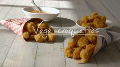 Végé croquettes | Cuisine futée, parents pressés Quebec, Veggie Recipes, Vegetarian Recipes, Vegan Challenge, Good Food, Yummy Food, Healthy Meals For Kids, Going Vegan, Food And Drink