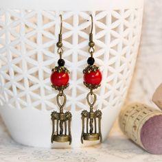 Red earrings for red wine lovers by CrazySmykker on Etsy, kr50.00