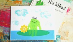 Handprint Frog Keepsake - Free Printable Template