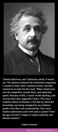 Albert Einstein on education