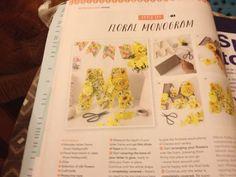 Floral monogram Mollie Makes 67