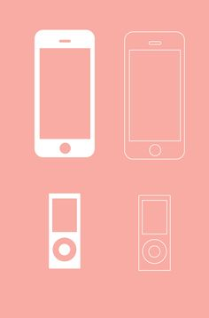 Apple Devices Wireframe Vector