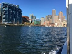 Boston by water taxi. 🚤