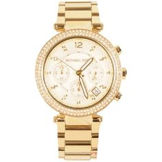 Pre-owned Yellow Gold With Diamonds, Michael Kors Watch ($109) ❤ liked on Polyvore featuring jewelry, watches, accessories, yellow gold, gold diamond jewelry, pre owned watches, gold wrist watch, preowned watches and michael kors jewelry