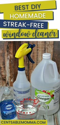 Only 3 common household ingredients needed in this DIY homemade Window Cleaner recipe. It's made with vinegar and streak free on both your windows and your mirrors. #cleaninghacks #windowcleaner #homemadecleaner Vinegar Window Cleaner, Diy Window Cleaner, Window Cleaner Recipes, Homemade Glass Cleaner, Mirror Cleaner, Window Cleaner Streak Free, Recipe For Vinegar Cleaner, Dawn Vinegar Cleaner, Cleaning Windows With Vinegar