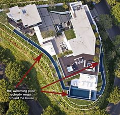 If It's Hip, It's Here: PART ONE: Modern Mansion With Wrap Around Pool and Glass-Walled Garage For $36 Million. (36 Pics)
