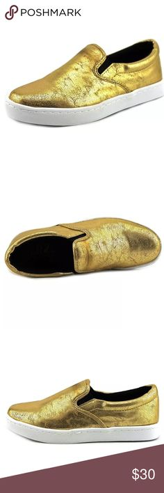 🆕List! Wild Pair Gold Loafers! NEW! One inch tall sole. Size 7.5. New in box. Live pics coming soon! Wild Pair Shoes Flats & Loafers