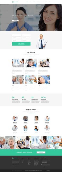Columba beautiful premium Medical PSD Template. It has 31 PSD files and 5 homepage version. #healthcare #psdtemplate