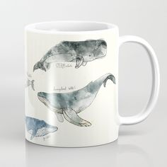 Buy Whales Coffee Mug by amyhamilton. Worldwide shipping available at Society6.com. Just one of millions of high quality products available.