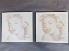 Isn't She Lovely? Marilyn Monroe halfton poster on plywood