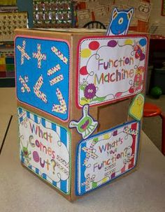 Monster Function Machine. Teaches reasoning, logic, pattern recognition and has student involvement. $ but you could easily make one yourself.