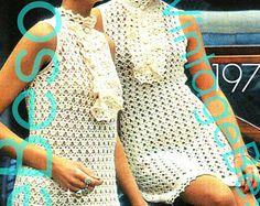 INSTANT DOWNlOAD PdF Pattern Dress Crochet Pattern Vintage