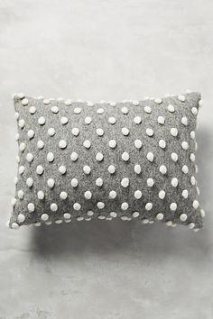 "$58.00  Dimensions:  14"" x 20"" Woolen Pom Pillow"