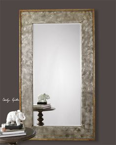 Uttermost Stuart Silver Beaded Mirror Available Through Garner Wayside  Furniture This Decorative Mirror Features A Wood Frame Finished In Silver  Leu2026