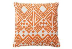 Tangier 22x22 Cotton Pillow, Orange