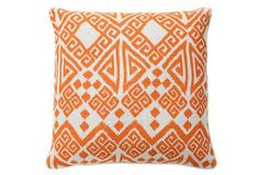 Tangier 22x22 Cotton Pillow, Orange