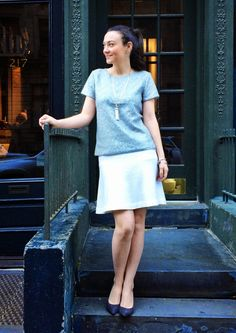 College Prepster: On My Radar College Prepster, Office Attire, White Skirts, Dresses For Work, My Style, Casual, Clothes, Outfits, Outfit Ideas