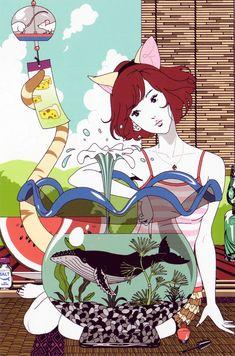 Bilderesultat for Yusuke Nakamura illustration Art And Illustration, Character Illustration, Graphic Design Illustration, Manga Illustrations, Anime Fantasy, Fantasy Art, Cover Art, Anime Manga, Anime Art