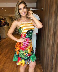 Image may contain: 1 person, standing Dressy Dresses, Dress Outfits, Girls Dresses, Cute Outfits, Fashion Outfits, Dress Up, Womens Fashion, Tropical Dress, Summer Outfits