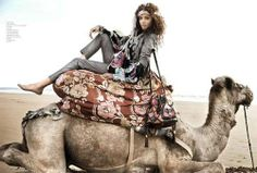 Decadent Desert Fashion - The Nomadic Noemie Lenoir in French Revue de Modes SS 2011