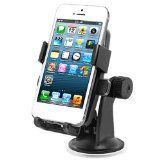 iOttie One-Touch Windshield Dashboard Car Mount Holder for iPhone 5 4S 4 3GS Samsung Galaxy S3 S2 Epic Touch 4G HTC OneX EVO 4G Rhyme DROID RAZR BIONIC INCREDIBLE 2 CHARGE Google Nexus BlackBerry Torch LG Revolution GPS Compact Size 360 degree RotatableRotatable