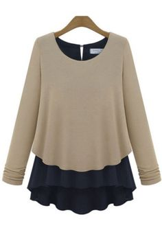 Color contrast and pleats, what's not to love about this Fall blouse?
