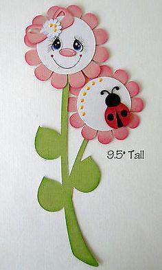 Papel de primavera Mariquitas Piecing prefabricados 4 fronteras álbumes de recortes álbumes Danderson 651