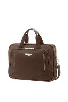 """X'Blade 2.0 Business Dark Brown Laptop Portfolio 16"""" #Samsonite #XBlade20 #Travel #Suitcase #Luggage #Strong #Lightweight #MySamsonite #ByYourSide"""