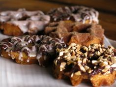 Glazed Waffle Donuts - Bobby Flay - brunch with Bobby