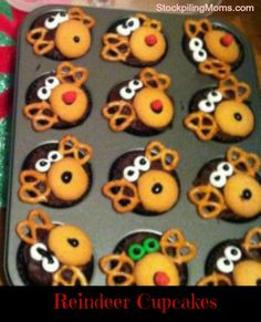 Your kids will LOVE these easy to make reindeer cupcakes!