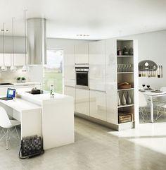 Cocina moderna color claro